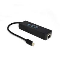 【翔龍】TYPE C3.1轉接網卡+3埠USB 3.0 HUB(分享器 集線器)