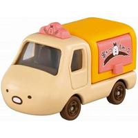 小禮堂 TOMICA多美小汽車 角落生物 造型小貨車 食物攤車 玩具車 模型車 (棕 豬排)