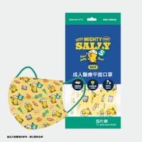 台灣康匠 Line 校友隊 成人醫療口罩 袋裝5入(莎莉) 台灣製造 MD雙鋼印