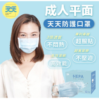 《 天天 》HEPA 成人平面醫療口罩 藍色 天天藍 台灣製 雙鋼印 康匠 盒裝 50入 天天口罩 透氣 賣場還有中衛