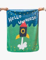 Pluto9 -韓國時尚彩繪雙面毯- 兒童涼被〈火箭〉