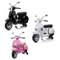 Vespa 偉士牌 羅馬假期電動玩具車(黑/粉/白)