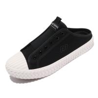 Skechers 休閒鞋 Street Trax 女鞋 黑 白 帆布 穆勒鞋 【ACS】 155386BLK
