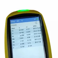 800โลหะทองเครื่องวิเคราะห์มือถือ XRF Spectrometer