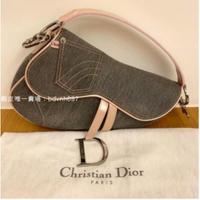 Sneake二手精品 Dior Vintage 牛仔馬鞍包
