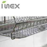 【韓國製造 INEX】雙層不銹鋼碗盤收納架 配件:單層瀝水籃含接水盤