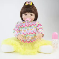 55 Cm Full Body Silikon Reborn Hidup Bayi Boneka Mainan Vinyl BEBE Putri Baru Lahir Bayi dengan Anting-Anting Gadis Bonecas Bermain rumah Mandi