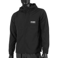 Skechers [L321M072-0018] 男 外套 連帽風衣 立領 薄款 輕便 秋季 休閒 舒適 黑