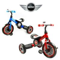 【Mini Cooper】兒童三輪車10吋(激光藍/辣椒紅)