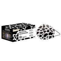 萊潔 醫療防護成人口罩-黑白乳牛紋(50入/盒裝)(衛生用品,恕不退貨,無法接受者勿下單)
