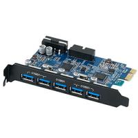 ORICO USB3.0 5PORT+20PIN PCI-E 擴充卡(VLI) PVU3-502I