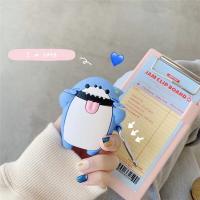 超夯 扮鬼臉小鯊魚 airpods1/2代通用 矽膠保護套 台灣現貨