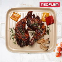 【NEOFLAM】FIKA系列 28cm 鑄造不沾方形烤盤(IH、電磁爐適用)