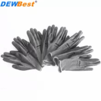 PU Nitrile Safety Coating Nylon Cotton Work Gloves Palm Coated Gloves Mechanic Working Gloves have CE EN388