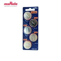 【muRata 村田】CR2450 鈕扣型鋰電池5入/卡 台灣公司貨