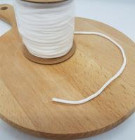 防疫商品  口罩專用3mm耳帶繫繩鬆緊帶白色一組10碼入  輕鬆吃