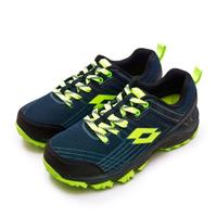 【LOTTO】男 專業防潑水郊山越野跑鞋 JOURNEY 叢林旅程系列(藍黑綠 1765)