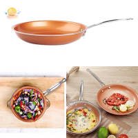 陶瓷塗層長柄8英寸銅鍋不粘煎鍋牛排煎鍋