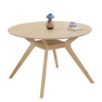 【AT HOME】北歐鄉村4尺原木色圓桌/餐桌/工作桌/洽談桌(蜜雪兒)
