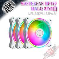 CoolerMaster MasterFan MF120 HALO 白色 3合1 風扇 PC PARTY