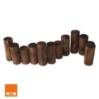 【特力屋】燻木木柱圍籬 D8xL96xH21cm