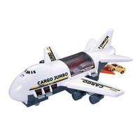 小禮堂 TOMICA多美小汽車 飛機造型運輸車 巨無霸貨機 玩具車 模型車 (黑白)
