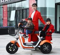 電動三輪車家用老年人代步車小型老人電瓶車接送孩子女士新款迷你