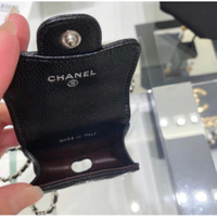 Chanel AP1739 CHANEL Airpods Pro Case鍊帶荔枝紋Airpods包黑