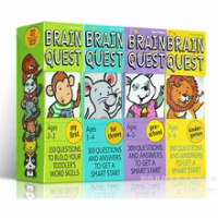 4BOX/LOT BRAIN QUEST english children's study cards books 2-6 years old ages Children's Book-of-the Month Club