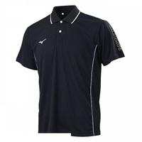 Mizuno [32TA101509] 男 短袖 Polo 運動 休閒 吸汗 速乾 抗紫外線 黑