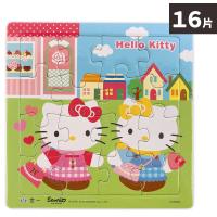 Hello Kitty 16片拼圖 逛街去 C678064 /一個入(促50) 古錐拼圖 凱蒂貓拼圖 三麗鷗 KT 幼兒卡通拼圖 正版授權 MIT製