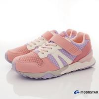 日本月星Moonstar機能童鞋HI系列寬楦頂級學步鞋款22074紫粉(中大童段)