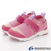 ★日本月星Moonstar機能童鞋-HI系列2E穩定款22284粉(中小童段)