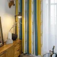โมเดิร์นม่านบังแดดสำหรับห้องนั่งเล่นห้องนอนหน้าต่างผ้าม่านผ้า Ready Made สำเร็จรูปผ้าม่าน Tend บ้...