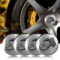 รถ4Pcs 56Mm อลูมิเนียม F1 RACING โลโก้ศูนย์ล้อรถ Hub Hub หมวกสติกเกอร์สำหรับ BMW Audi Chevrolet peugeot Corvette ที่นั่ง