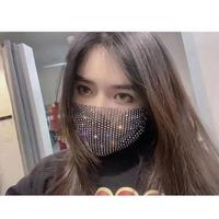 【買上癮】時尚水鑽透氣口罩(水鑽口罩 亮鑽 口罩套 外罩 可水洗)