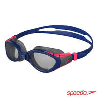【SPEEDO】成人 運動泳鏡 偏光 Biofuse Tri(藍/紅)