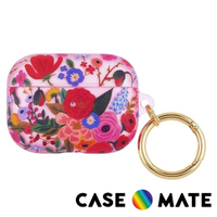 【CASE-MATE】AirPods Pro 保護套 贈扣夾 - Rifle Paper Co.聯名款(花園派對 紅)