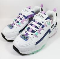 SKECHERS 女鞋 D'LITES 4.0熊貓鞋 老爹鞋 厚底 固特異 149493WBKB 白紫 (C9)【陽光樂活】