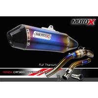 【上元車業】MOTO-X 碳纖維 全段鈦色排氣管 HONDA CRF300L CRF300RALLY