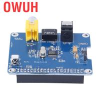 適用於 Raspberry Pi 3 / 2B HIFI DiGi 數字聲卡 I2S SPDIF 擴展板光纖模塊的 Ow