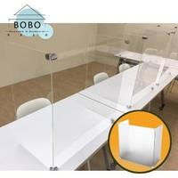 【撥撥的架子】台灣現貨防疫隔板 百變組合 收納不占空間 餐桌擋板(單人ㄇ型款-3mm)