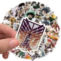 10/30/50Pcs Hot ญี่ปุ่นโจมตีบน Titan Anime สติกเกอร์แล็ปท็อป Graffiti กระเป๋าเดินทางสเก็ตบอร์ดสติกเกอร์รูปลอกเด...