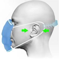 【BeOK】口罩減壓神器 多段可調節頭帶 口罩耳掛延長減壓輔助-5入