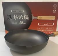 『福利品』TETSU日本製木把窒化炒鍋-28公分