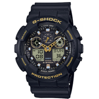 刷卡滿3千回饋5%點數|CASIO G-SHOCK世界時間雙顯計時錶/GA-100GBX-1A9DR