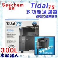 【水族達人】西肯Seachem《Tidal 75 多功能過濾器 300L》外掛過濾器 除油膜過濾器  義大利製造