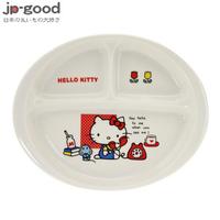 金正陶器 HELLO KITTY 輕瓷三格餐盤