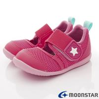★日本月星Moonstar機能童鞋HI系列寬楦頂級速乾鞋款1174粉(寶寶段)