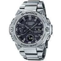 【CASIO 卡西歐】G-SHOCK 碳纖維防護太陽能藍牙手錶(GST-B400D-1A)